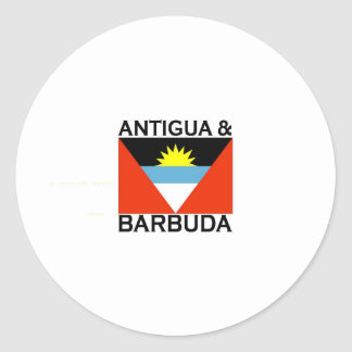Antigua & Barbuda Classic Round Sticker