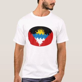 Antigua & Barbuda Gnarly Flag T-Shirt