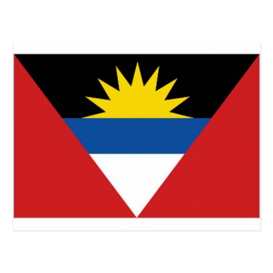 Antigua Barbuda National Flag Postcard