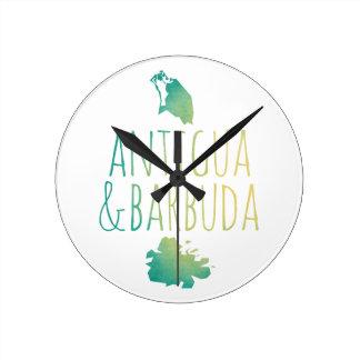 Antigua & Barbuda Round Clock