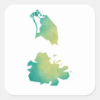 Antigua & Barbuda Square Sticker
