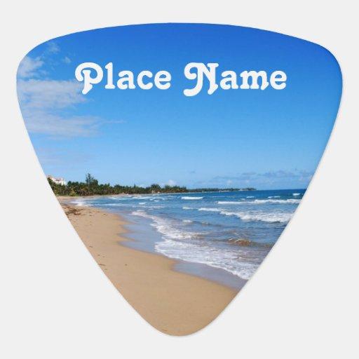 Antigua Beach Guitar Pick