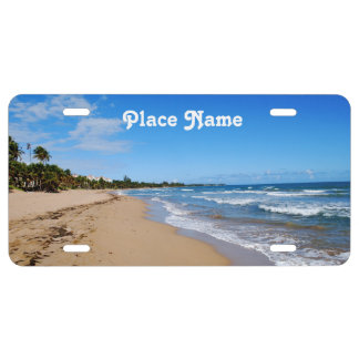 Antigua Beach License Plate