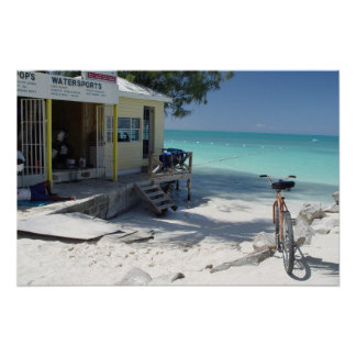Antigua Bike with a View Poster