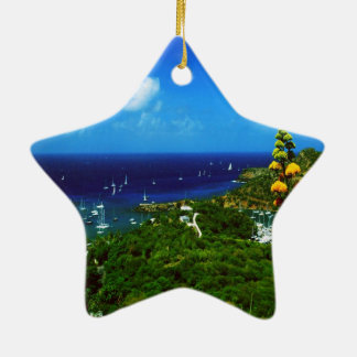 Antigua Caribbean Island Ceramic Ornament