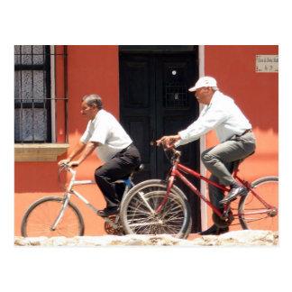 Antigua Cyclists Guatemala Postcard