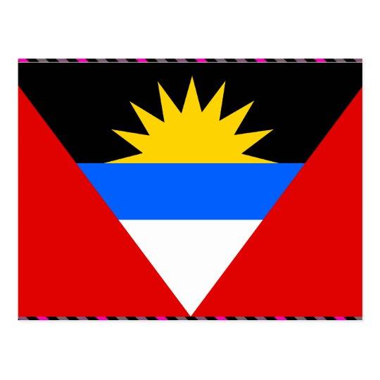 Antigua Flag Postcard