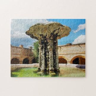 Antigua Fountain Convent Notre-Dame-Merc. Jigsaw Puzzle