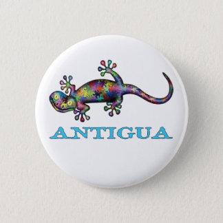 Antigua gecko 2 inch round button
