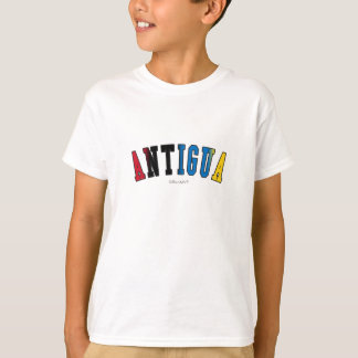Antigua in national flag colors T-Shirt
