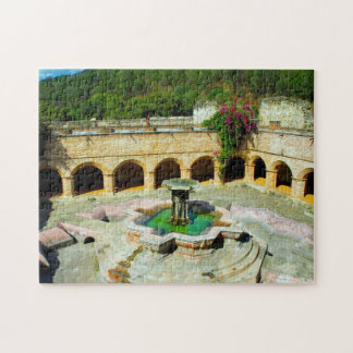 Antigua  Merced Cloister Fountain. Jigsaw Puzzle
