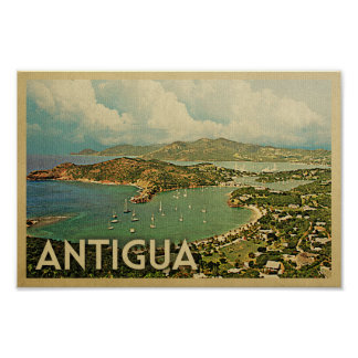 Antigua Poster Vintage Travel Poster Caribbean