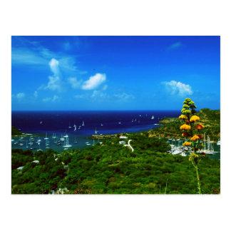 Antigua Sailboat races Postcard