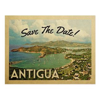 Antigua Save The Date Vintage Postcards