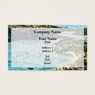 Antigua View Falmouth Harbor Business Card