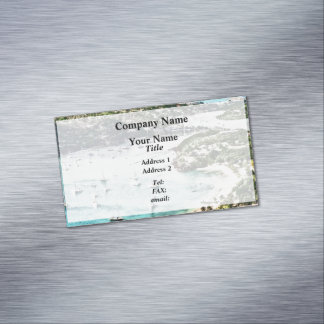 Antigua View Falmouth Harbor Business Card Magnet
