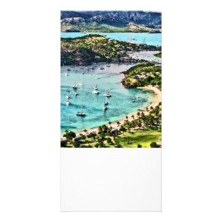 Antigua View Falmouth Harbor Custom Photo Card