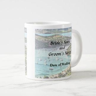 Antigua View Falmouth Harbor Giant Coffee Mug