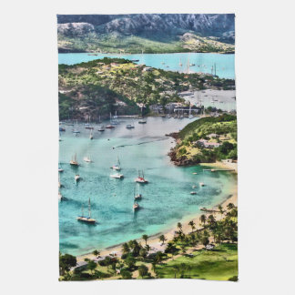 Antigua View Falmouth Harbor Hand Towel