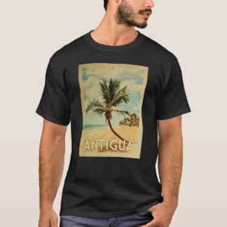 Antigua Vintage Travel T-shirt - Beach