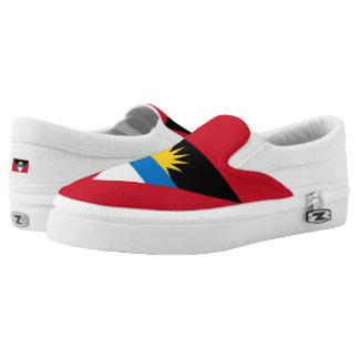 Antiguan and Barbudan flag Slip-On Sneakers