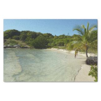 Antiguan Beach Beautiful Tropical Landscape Tissue Paper
