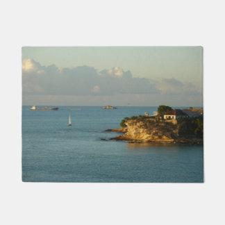 Antiguan Coast Beautiful Island Seascape Doormat