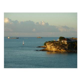 Antiguan Coast Beautiful Island Seascape Postcard
