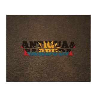 Antiguan name and flag cork paper