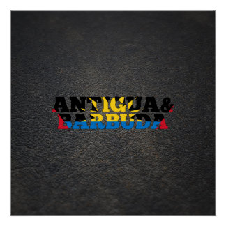 Antiguan name and flag perfect poster