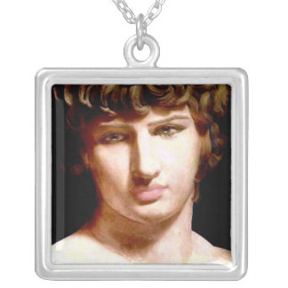 Antinous Silver Plated Necklace