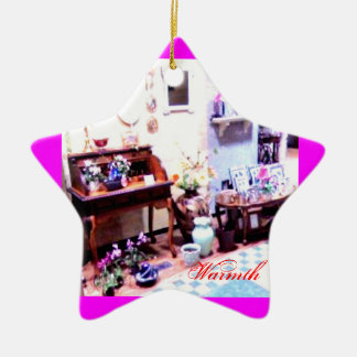 ☺♪ Åñtîqúέ  Interior Design Ornament♪☺ Ceramic Star Ornament