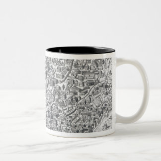 Antiquae Urbis Perfecta Imago, Map of Rome Two-Tone Coffee Mug