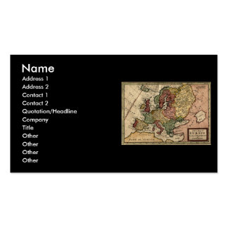 Antiquarian 1721 Map of Europe by Herman Moll Business Card Template