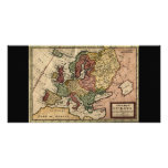 Antiquarian 1721 Map of Europe by Herman Moll Personalized Photo Card
