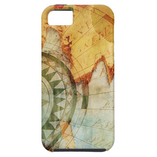 Antiquarian Map Compass Torn Paper iPhone Case