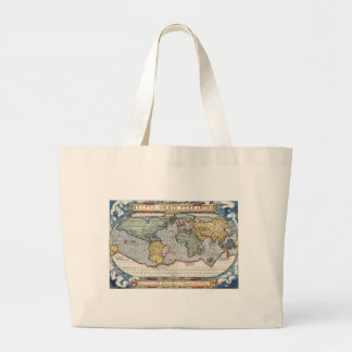 Antique 16th Century World Map Canvas Bags