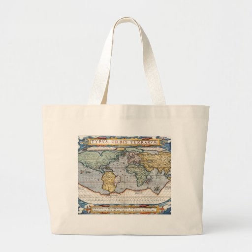 Antique 16th Century World Map Tote Bag