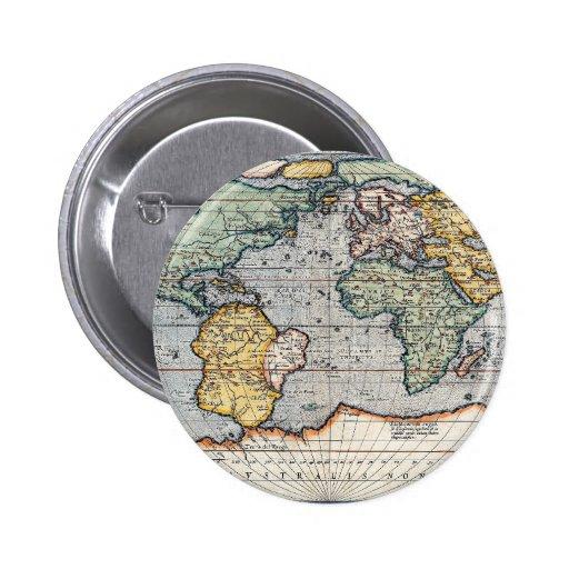 Antique 16th Century World Map Pin