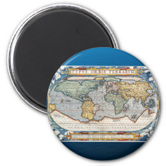 Antique 16th Century World Map Magnet
