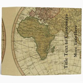 Antique 1786 World Map by William Faden 3 Ring Binder