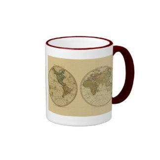 Antique 1786 World Map by William Faden Coffee Mug