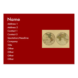 Antique 1786 World Map by William Faden Pack Of Chubby Business Cards
