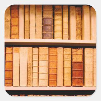 Antique 17th Century Leather Binding Books Square Sticker