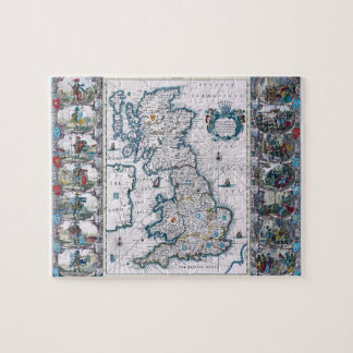 Antique 17th Century Map of England Puzzle