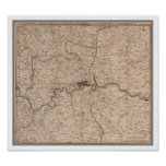 Antique 18th Century Map of London Poster