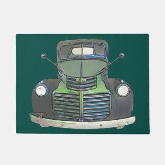 Antique 1947 Truck Sketch Door Mat Rug