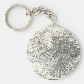 Antique 19th Century Map of Bristol England Keychain