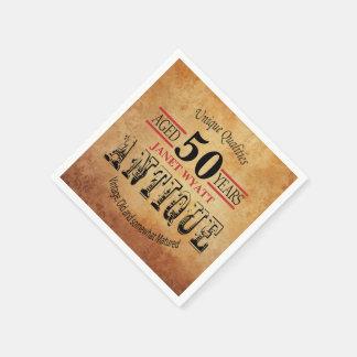 Antique 50th Birthday Design Paper Napkins