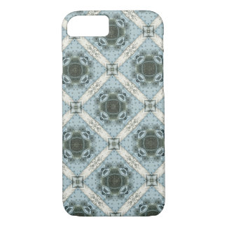 Antique Abstract Shapes Blue Floral Kaleidoscope iPhone 8/7 Case